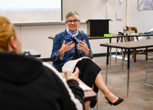Patricia Harris teaching at SCC.