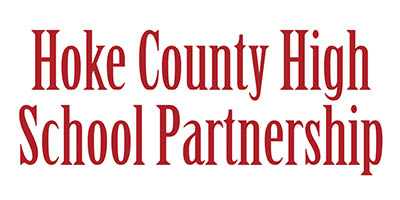 "White background, red text that says, ""Hoke High Partnership"""