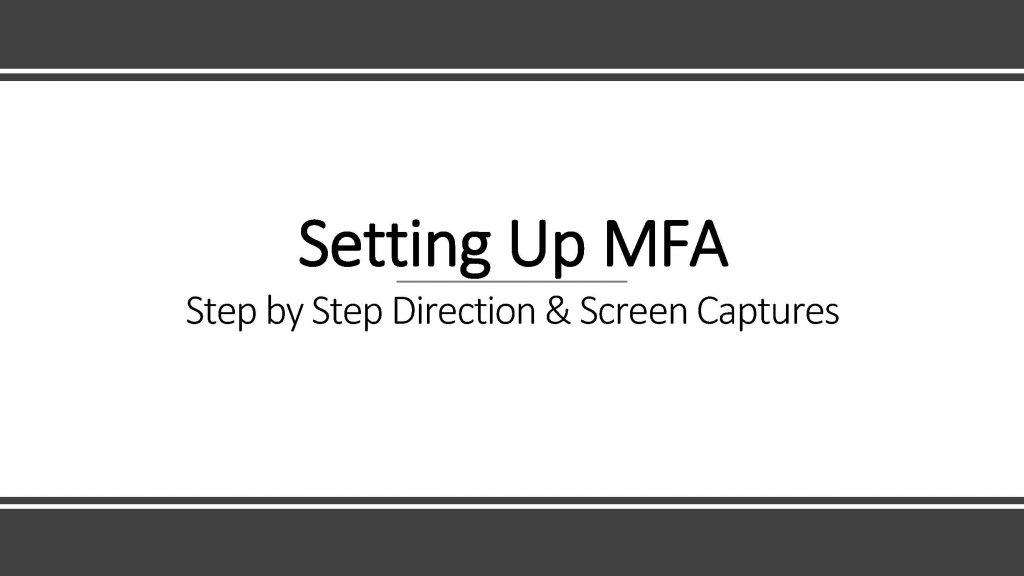 MFA Set-Up